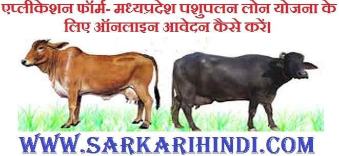 [ एप्लीकेशन फॉर्म]मध्यप्रदेश पशुपालन लोन योजना के लिए ऑनलाइन आवेदन कैसे करें।Madhya Pradesh Dairy Loan Yojana 2020 In Hindi